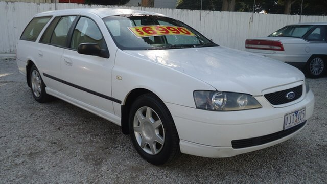 Used Ford Falcon BA XT Seaford, 2003 Ford Falcon BA XT White 4 Speed Sports Automatic Wagon