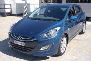 2014 Hyundai i30 GD2 Active Blue 6 Speed Manual Hatchback.