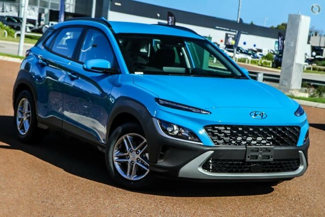 New Hyundai Kona Os.v4 MY21 2WD Nailsworth, 2021 Hyundai Kona Os.v4 MY21 2WD Surfy Blue 8 Speed Constant Variable Wagon