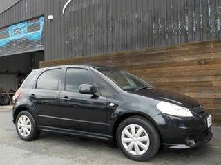 2008 Suzuki SX4 GYA GLX Black 4 Speed Automatic Hatchback.