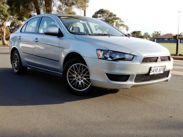 Used Mitsubishi Lancer CJ MY10 ES Glenelg, 2009 Mitsubishi Lancer CJ MY10 ES Silver 6 Speed Constant Variable Sedan