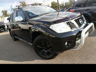 2012 Nissan Navara D40 ST-X 550 (4x4) Black 7 Speed Automatic Dual Cab Utility.