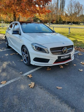 Used Mercedes-Benz A-Class W176 A250 D-CT Sport Armidale, 2014 Mercedes-Benz A-Class W176 A250 D-CT Sport White 7 Speed Sports Automatic Dual Clutch Hatchback