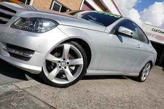 2014 Mercedes-Benz C-Class C204 C250 CDI 7G-Tronic Avantgarde Silver 7 Speed Sports Automatic Coupe.