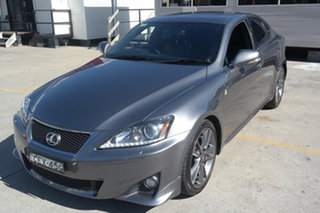 2012 Lexus IS GSE21R IS350 F Sport Silver 6 Speed Sports Automatic Sedan.