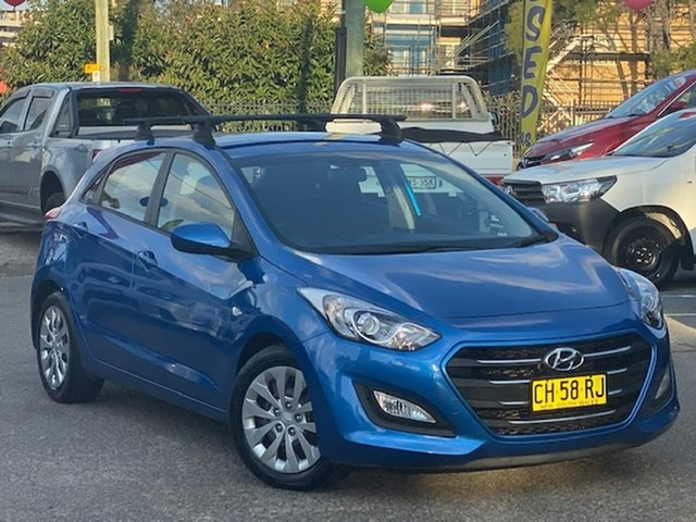 Used Hyundai i30 GD4 Series II MY17 Active Liverpool, 2016 Hyundai i30 GD4 Series II MY17 Active Blue 6 Speed Sports Automatic Hatchback