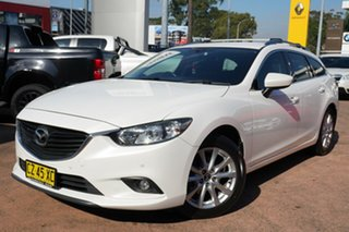 2013 Mazda 6 6C Touring White 6 Speed Automatic Wagon.