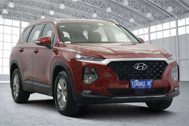 Used Hyundai Santa Fe TM MY19 Active Victoria Park, 2019 Hyundai Santa Fe TM MY19 Active Horizon Red 8 Speed Sports Automatic Wagon
