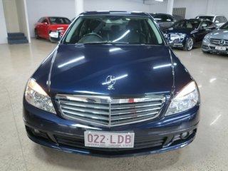 2008 Mercedes-Benz C-Class W204 C200 Kompressor Classic Blue 5 Speed Sports Automatic Sedan.