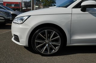 2017 Audi A1 8X MY17 Sportback 1.4 TFSI Sport Glacier White 7 Speed Auto Direct Shift Hatchback.