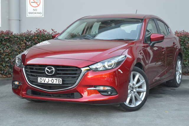 Used Mazda 3 BN5438 SP25 SKYACTIV-Drive Maitland, 2018 Mazda 3 BN5438 SP25 SKYACTIV-Drive Red 6 Speed Sports Automatic Hatchback