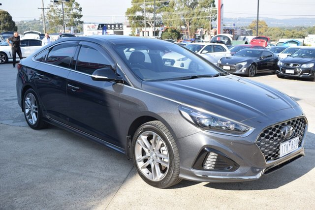 Used Hyundai Sonata LF4 MY19 Premium Ferntree Gully, 2018 Hyundai Sonata LF4 MY19 Premium Grey 8 Speed Sports Automatic Sedan