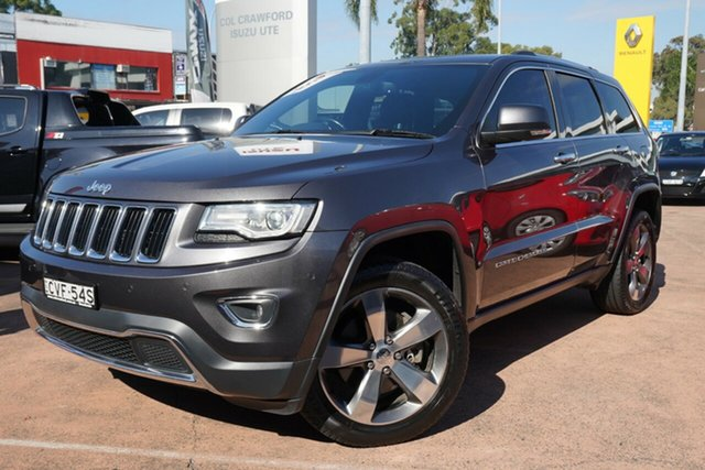Used Jeep Grand Cherokee WK MY14 Limited (4x4) Brookvale, 2014 Jeep Grand Cherokee WK MY14 Limited (4x4) Grey 8 Speed Automatic Wagon
