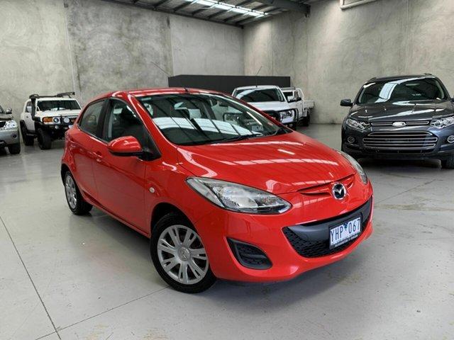 Used Mazda 2 DE10Y1 MY11 Neo Coburg North, 2011 Mazda 2 DE10Y1 MY11 Neo Red 5 Speed Manual Hatchback