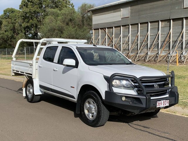 Pre-Owned Holden Colorado RG MY18 LS (4x4) Oakey, 2017 Holden Colorado RG MY18 LS (4x4) White 6 Speed Automatic Crew Cab Pickup