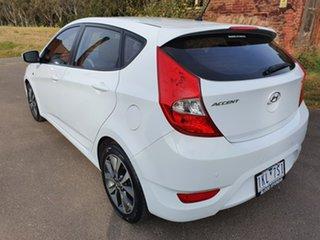2017 Hyundai Accent RB4 SR White Sports Automatic Hatchback