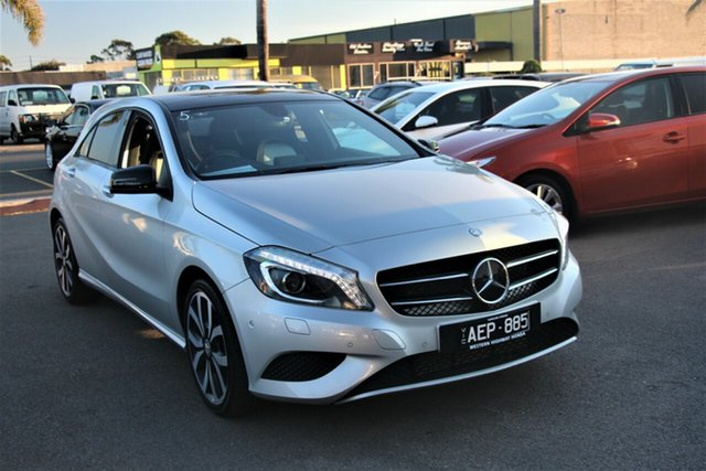 Used Mercedes-Benz A-Class W176 805+055MY A180 D-CT Cheltenham, 2014 Mercedes-Benz A-Class W176 805+055MY A180 D-CT Silver 7 Speed Sports Automatic Dual Clutch