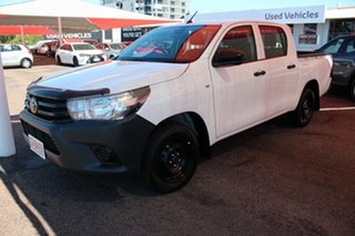 2019 Toyota Hilux TGN121R Workmate Double Cab 4x2 Glacier White 5 Speed Manual Utility