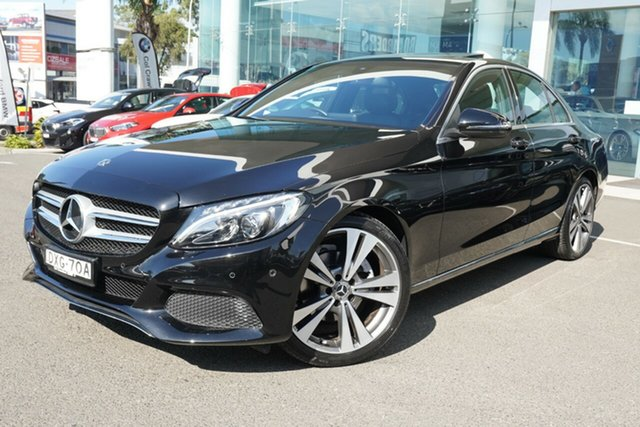 Used Mercedes-Benz C200 205 MY18 Brookvale, 2018 Mercedes-Benz C200 205 MY18 Obsidian Black 9 Speed Automatic G-Tronic Sedan