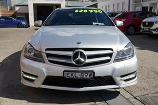 2014 Mercedes-Benz C-Class C204 C250 CDI 7G-Tronic Avantgarde Silver 7 Speed Sports Automatic Coupe