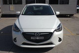 2017 Mazda 2 DJ2HAA Genki SKYACTIV-Drive White 6 Speed Sports Automatic Hatchback.