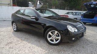2004 Mercedes-Benz C-Class CL203 MY2003 C200 Kompressor Sports Black 5 Speed Automatic Coupe.
