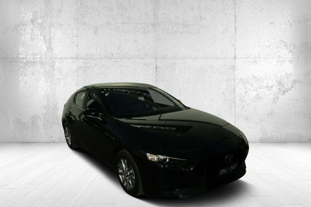 Demo Mazda 3 BP2H7A G20 SKYACTIV-Drive Pure Bendigo, 2020 Mazda 3 BP2H7A G20 SKYACTIV-Drive Pure Black 6 Speed Sports Automatic Hatchback