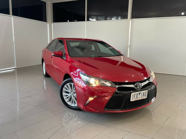 Used Toyota Camry ASV50R Atara SL Deer Park, 2015 Toyota Camry ASV50R Atara SL Red 6 Speed Sports Automatic Sedan