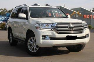 2018 Toyota Landcruiser VDJ200R LC200 Sahara (4x4) White 6 Speed Automatic Wagon.