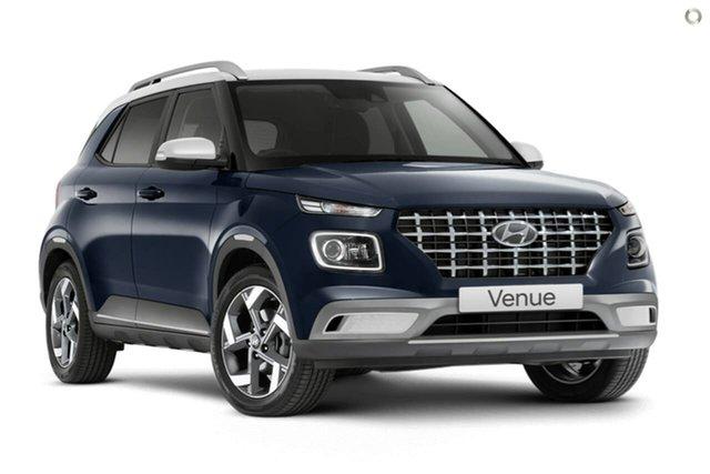 New Hyundai Venue QX.V3 MY21 Elite Oakleigh, 2021 Hyundai Venue QX.V3 MY21 Elite Blue 6 Speed Automatic Wagon