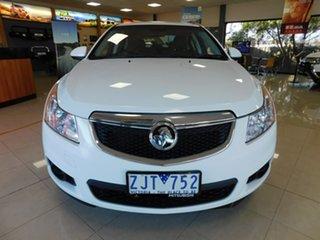 2012 Holden Cruze JH Series II MY12 CD White 6 Speed Sports Automatic Sedan.