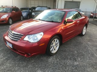 2008 Chrysler Sebring JS Limited Infernor Red/leather 6 Speed Sports Automatic Convertible.