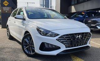 2020 Hyundai i30 PD.V4 MY21 Active Polar White 6 Speed Sports Automatic Hatchback.