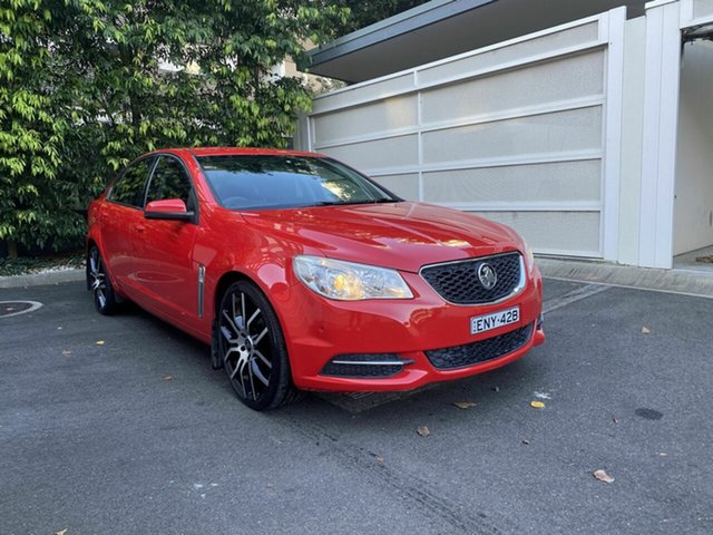 Used Holden Commodore VF MY14 Evoke Zetland, 2014 Holden Commodore VF MY14 Evoke Red 6 Speed Sports Automatic Sedan