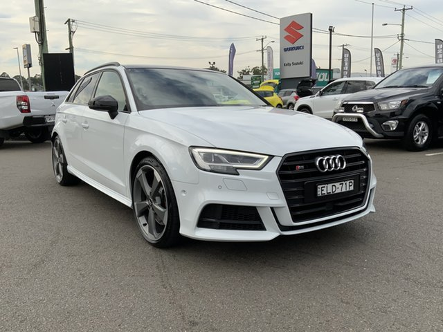 Used Audi S3 8V MY18 Sportback S Tronic Quattro Cardiff, 2018 Audi S3 8V MY18 Sportback S Tronic Quattro White 7 Speed Sports Automatic Dual Clutch Hatchback