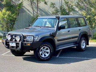 2004 Nissan Patrol GU III MY2003 ST Silver 4 Speed Automatic Wagon.