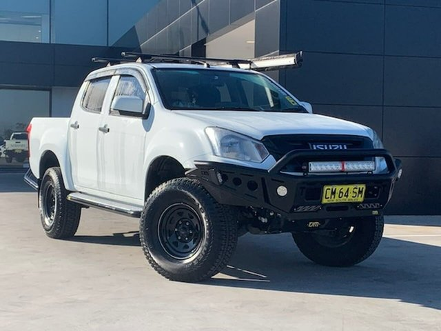 Used Isuzu D-MAX MY17 SX Crew Cab 4x2 High Ride Liverpool, 2017 Isuzu D-MAX MY17 SX Crew Cab 4x2 High Ride White 6 Speed Sports Automatic Utility