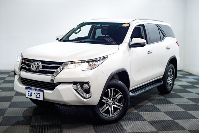 Used Toyota Fortuner GUN156R GXL Edgewater, 2019 Toyota Fortuner GUN156R GXL White 6 Speed Automatic Wagon
