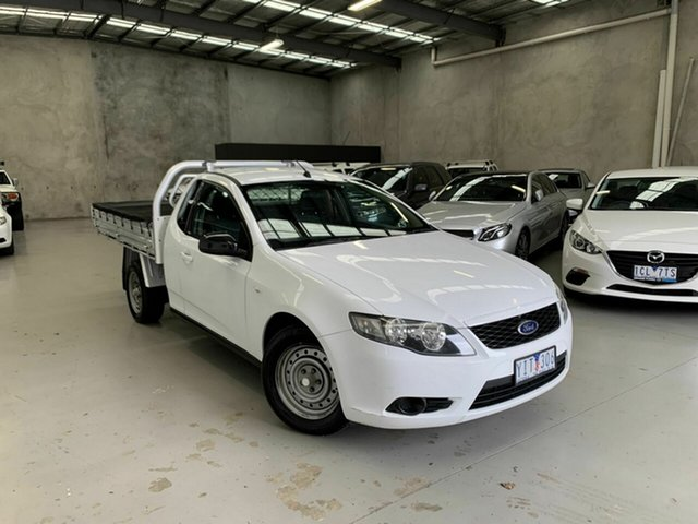 Used Ford Falcon FG Super Cab Coburg North, 2010 Ford Falcon FG Super Cab White 4 Speed Sports Automatic Cab Chassis