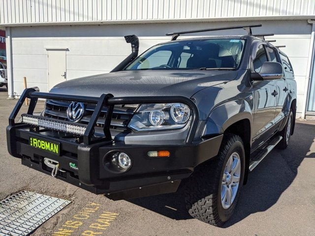 Pre-Owned Volkswagen Amarok 2H MY16 TDI420 4Motion Perm Highline Cardiff, 2015 Volkswagen Amarok 2H MY16 TDI420 4Motion Perm Highline Graphite 8 Speed Automatic Utility