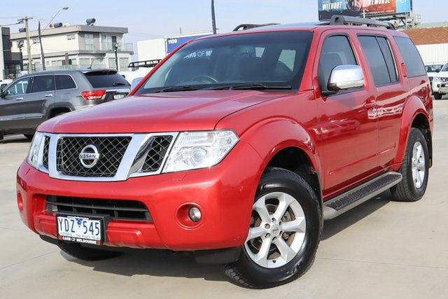 Used Nissan Pathfinder R51 MY10 TI Coburg North, 2011 Nissan Pathfinder R51 MY10 TI Red 5 Speed Sports Automatic Wagon