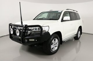 2018 Toyota Landcruiser VDJ200R LC200 GXL (4x4) Pearl White 6 Speed Automatic Wagon.