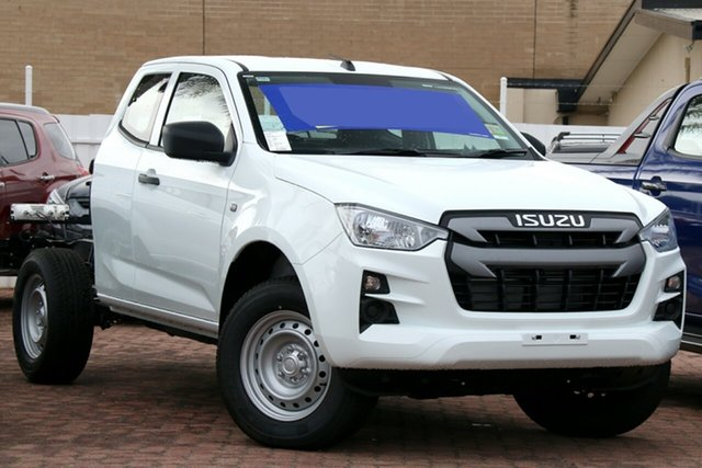 New Isuzu D-MAX RG MY21 SX Christies Beach, 2021 Isuzu D-MAX RG MY21 SX White 6 Speed Sports Automatic Cab Chassis