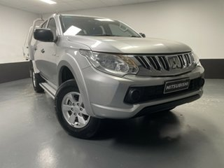 2015 Mitsubishi Triton MQ MY16 GLX Double Cab Silver 6 Speed Manual Utility.
