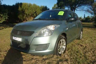 2011 Suzuki Swift FZ GA Green 5 Speed Manual Hatchback.