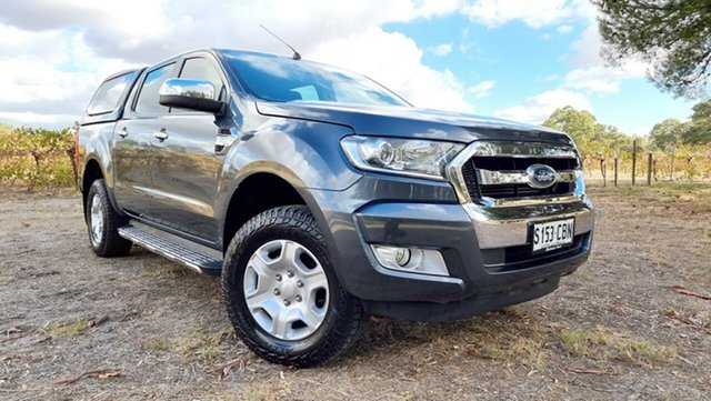 Used Ford Ranger PX MkII XLT Double Cab 4x2 Hi-Rider Nuriootpa, 2016 Ford Ranger PX MkII XLT Double Cab 4x2 Hi-Rider Grey 6 Speed Sports Automatic Utility