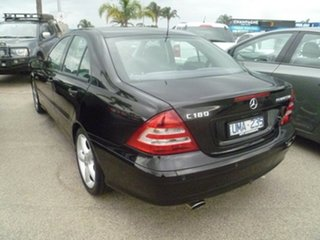 2006 Mercedes-Benz C-Class W203 MY07 C180 Kompressor Classic Black 5 Speed Automatic Sedan