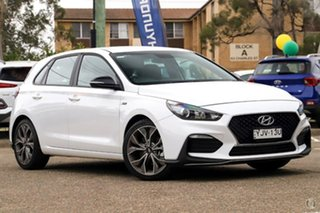 2021 Hyundai i30 PD.V4 MY21 N Line D-CT Polar White 7 Speed Sports Automatic Dual Clutch Hatchback.