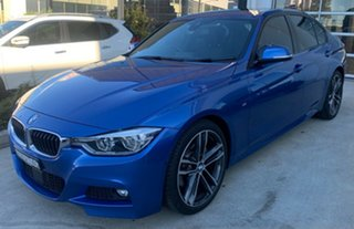 2017 BMW 3 Series F30 LCI 330i M Sport Estoril Blue 8 Speed Sports Automatic Sedan.