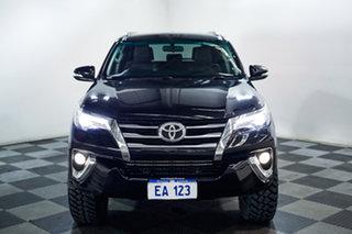 2015 Toyota Fortuner GUN156R Crusade Black 6 Speed Automatic Wagon.